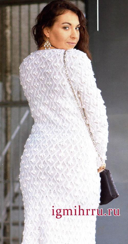 Платья вязанные с шишечками