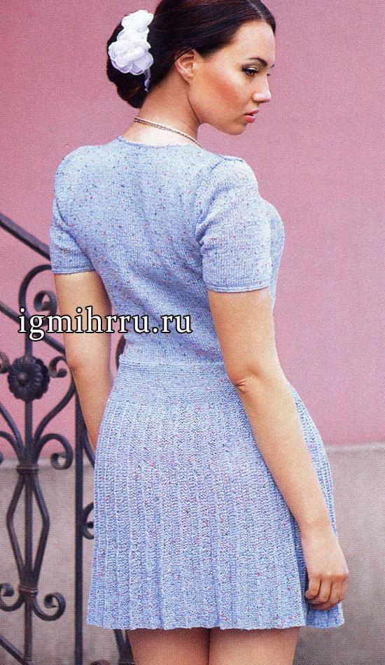 вязание юбки в складку видео:
