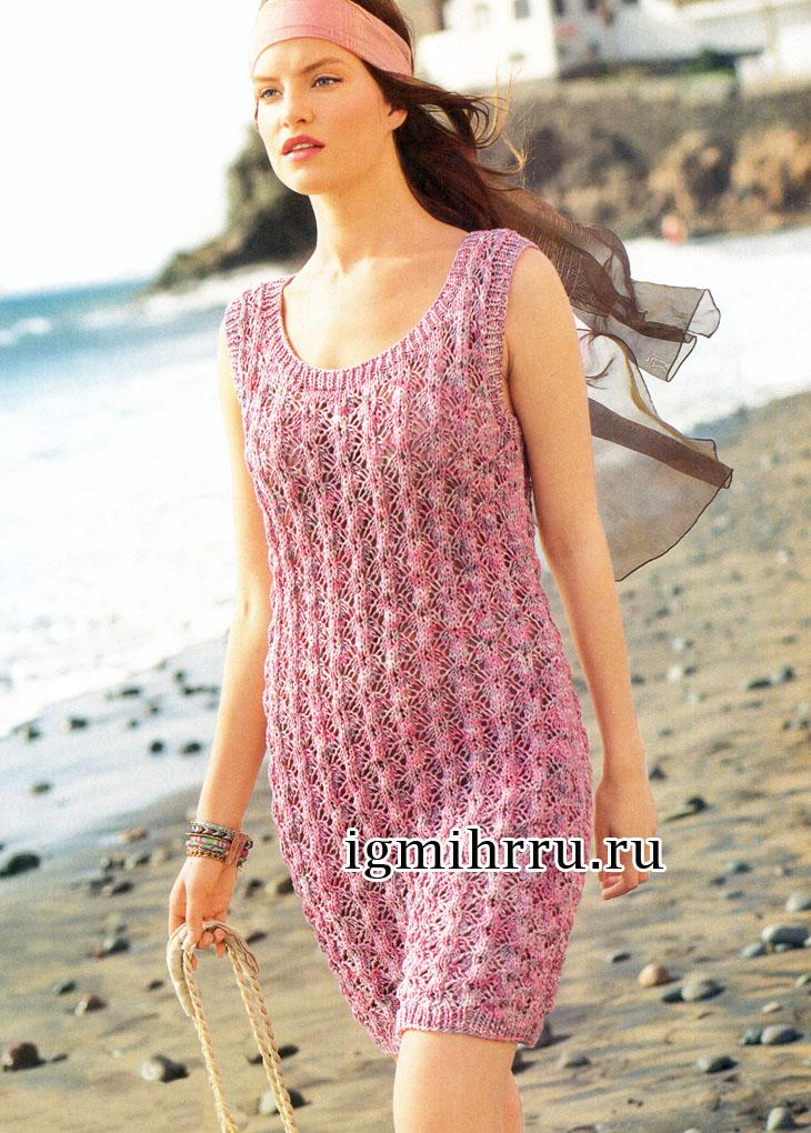 Вязание спицами летние платья и сарафаны 57