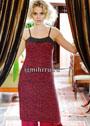 Красно-черное платье на тонких бретелях. Спицы