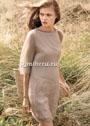 Нежное мохеровое платье с ажурной каймой. Спицы