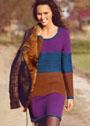 Шерстяное платье с миксом узоров и цветов. Спицы