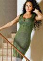 Мохеровое платье в духе маленького черного платья. Спицы