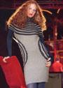 Платье-туника с полосами и кругами. Спицы