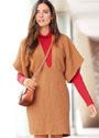Кашемировое мини-платье с тканым узором. Спицы