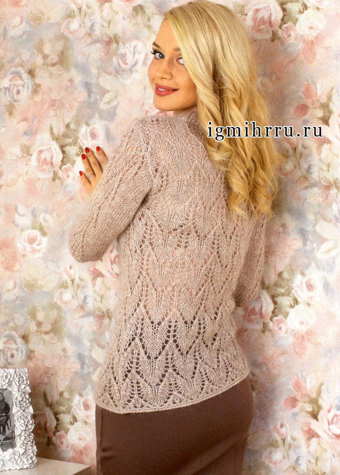 Схема вязания ажурного свитера спицами фото 115