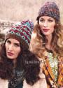 Яркие разноцветные шапочки из овечьей шерсти. Спицы