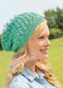 Летняя зеленая шапочка с дырочками. Спицы