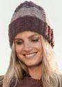 Теплая шапочка с крупными и мелкими косами. Спицы