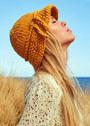 Шляпа простой вязки из толстой пряжи. Спицы