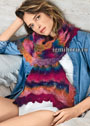 Радужный ажурный шарф. Спицы