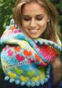 Теплый шарф-воротник с отделкой шишечками. Спицы