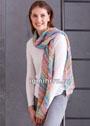 Разноцветный шарф из пряжи секционного крашения. Спицы