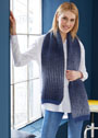 Длинный теплый  шарф с узором мозаика. Спицы