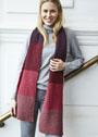 Пятицветный шерстяной шарф. Спицы