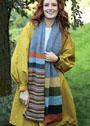 Длинный шерстяной шарф в полоску. Спицы