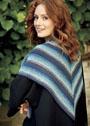 Треугольный платок платочной вязкой. Спицы