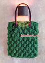 Зеленая сумка с шишечками. Спицы