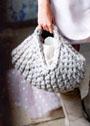 Сумка-корзина из ковровой пряжи. Спицы