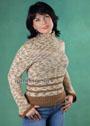 В спортивном стиле. Пестрый свитер простой вязки, из секционно окрашенной пряжи. Спицы