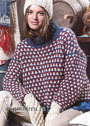 Теплый разноцветный свитер. Спицы