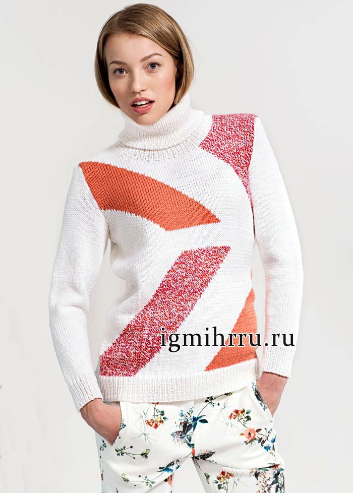 Классический шерстяной свитер с геометрическим рисунком