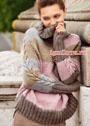 Теплый свитер в пастельных тонах. Спицы