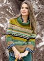 Жаккардовый кашемировый свитер с широким воротником. Спицы