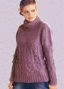Сиреневый свитер с шишечками. Спицы
