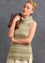 Разнообразим будни! Легкий свитер без рукавов жемчужной резинкой. Спицы