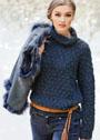 Универсальный свитер с узором из шишечек. Спицы