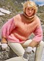 Мохеровый свитер пастельных тонов с косами. Спицы