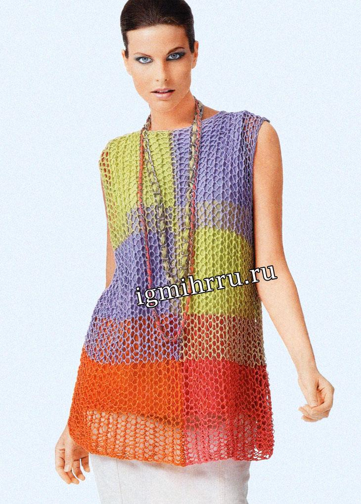267 Best Baddie Outfit Inspiration Images On Pinterest: Сетчатый многоцветный топ. Вязание спицами