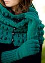 Удлиненные шерстяные перчатки. Спицы