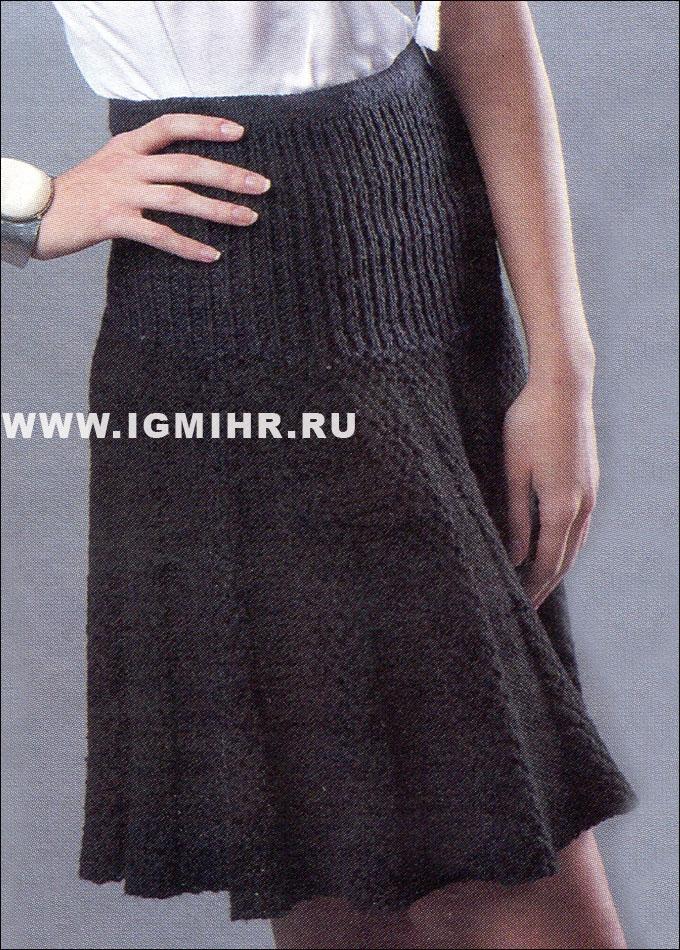 Черная юбка на кокетке и с