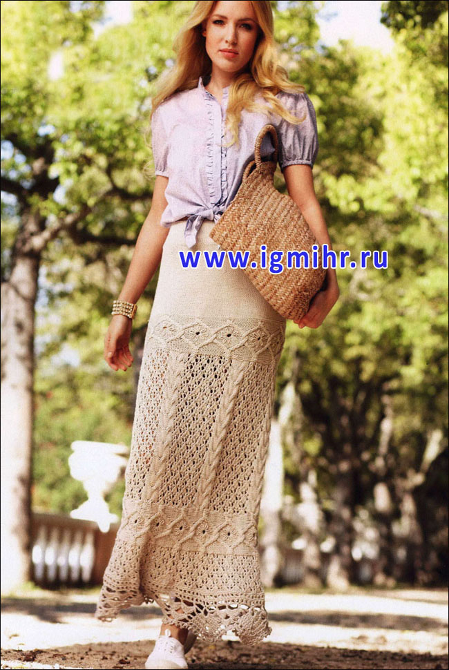 Стиль бохо вязание крючком юбки