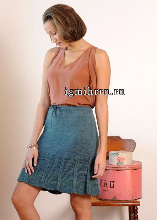 Вязание спицами шерстяная юбка