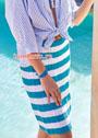 Двухцветная юбка в горизонтальную полоску. Спицы