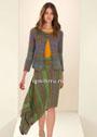Асимметричная юбка в стиле бохо. Спицы