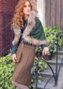 Шерстяная юбка с узором из листьев. Спицы