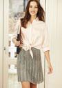 Серебристо-серая ажурная юбка. Спицы