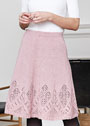 Расклешенная юбка с ажурной каймой. Спицы