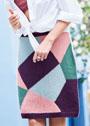 Многоцветная юбка в технике интарсии. Спицы