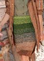 Юбка с широкими полосами и кулиской по низу. Спицы