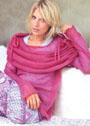 Комплект из тонкой мохеровой пряжи: пуловер и шарф. Спицы